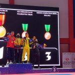 Setelah mengalahkan DKI Jakarta di partai final, Kontingen Lampung akhirnya meraih medali emas pertama PON XX Papua 2021 cabang olahraga Karate nomor Kumite -55 Kg. Dok: ponxx2021papua.com