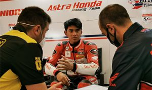 Mario akan turun pada dua seri gelaran GP tahun ini melalui kesempatan wildcard yaitu di Misano World Circuit Marco Simoncelli, Italia (24/10) dan Algarve Internacional Circuit, Portimao, Portugal (7/11). Dok: astra-honda.com.